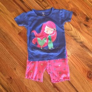 Just One You by Carters Mermaid Pajamas - Size 2T